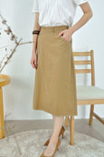 Faux Button Closure Skirt