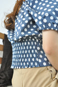 2 Way Shoulder Dotty Top