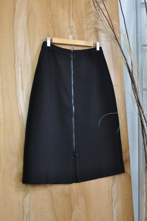 Dual Full Zipper Skirt