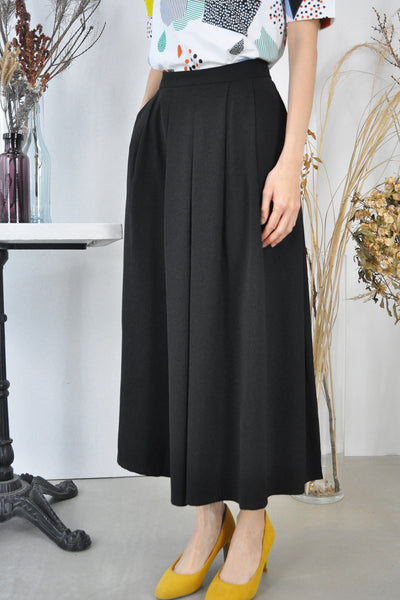 Pleat Front Wide Leg Culottes
