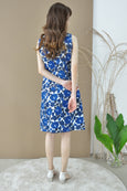 Box Pleat Floral Dress