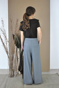 Inverted Pleats Wide Leg Pants