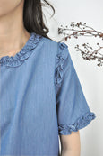 Frilled Sleeves Trimmings Blouse