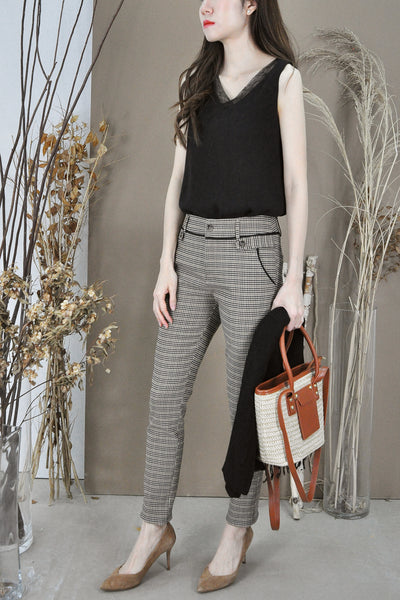 Checkered Tapered Pants
