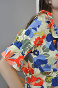 Big Florals Prints Blouse