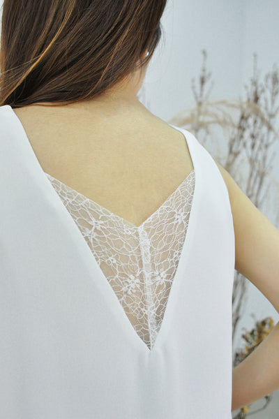 Back Lace V-Neck Tank