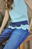 Scalloped Tier Hem Top