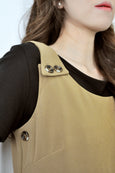 Buttons Pinafore Jumpsuit
