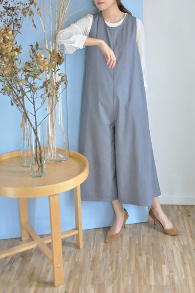 Wide Leg A-Line Jumpsuit