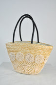 Crochet Lace Straw Bag