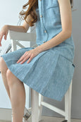 Tiffany Blue Drop Hem Tweed Dress