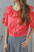 Pink Tier Buttons Top