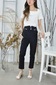 Paperbag High Waist Tapered Pants