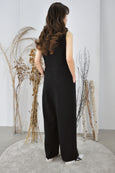 Wide Leg Buttons Jumpsuit