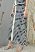 Eyelet Stripey Long Skirt