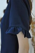 Drop Waist Pleated Hem Dress