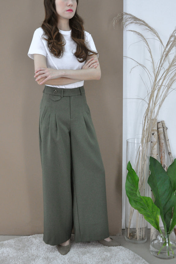 Side Button Full Length Pants