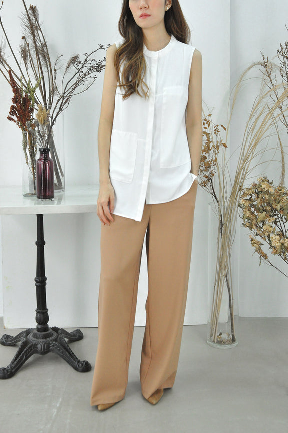 Asymmetrical Hem Patched Top