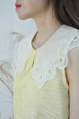 Lace Puritan Collar Top