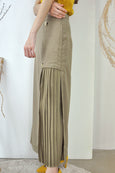 Pleated Innerlay Pockets Skirt