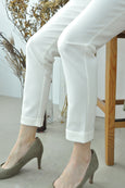 Button Cuff Tapered Pants