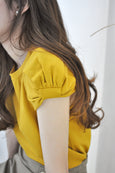Ribbon Puffed Sleeve Tee