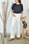 Puffy Sleeves Dotty Blouse