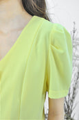 V-Neck Puffy Sleeves Blouse