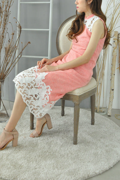 Crochect Lace Trimmings Cheongsam