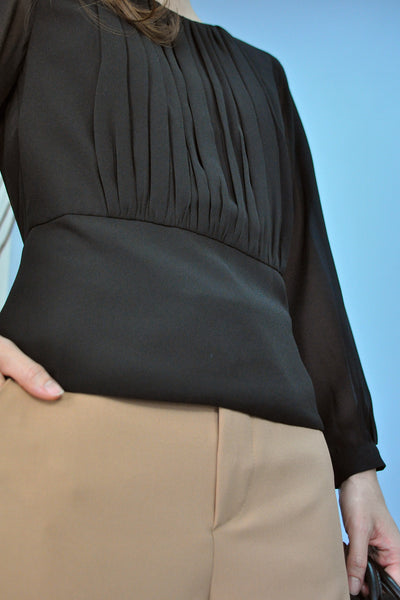 Gathered Pleats Waistband Top
