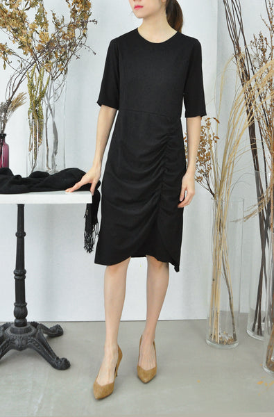 Dart Shaping Ruched Dress