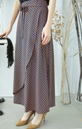 Wicker Weave Motif Long Skirt