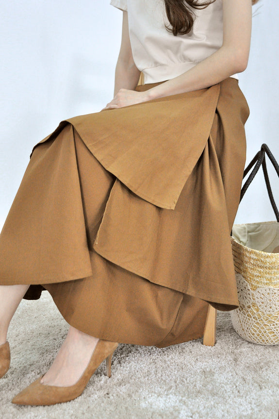 Tiered Handkerchief Hem Skirt