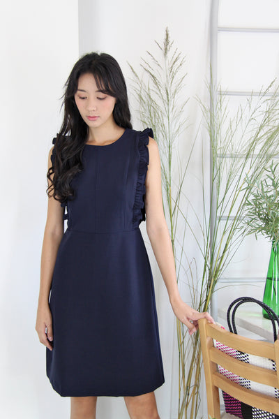 Side Ruffles Dress