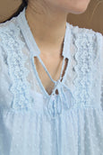 Lace & Tassel Blouse with Camisole