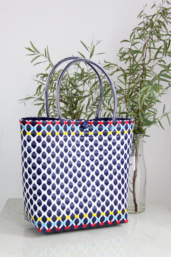 Multi-Color Way Woven Bag