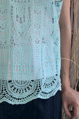 Full Crochet Lace Top with Camisole