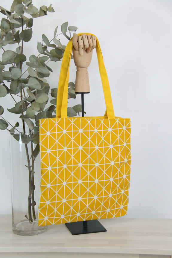 Joined Lines Reversible Tote