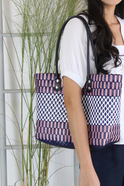 Criss Cross Woven Bag
