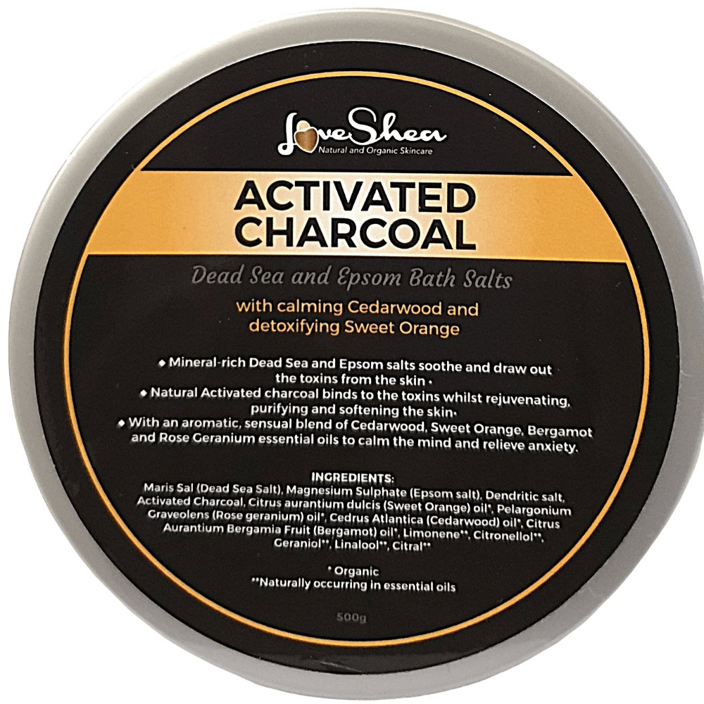 Activated Charcoal | Healing Bath Salts - LoveShea Skincare