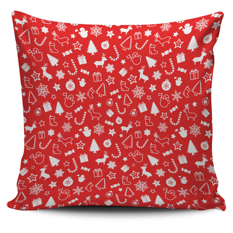 Red Christmas Pillow Cover