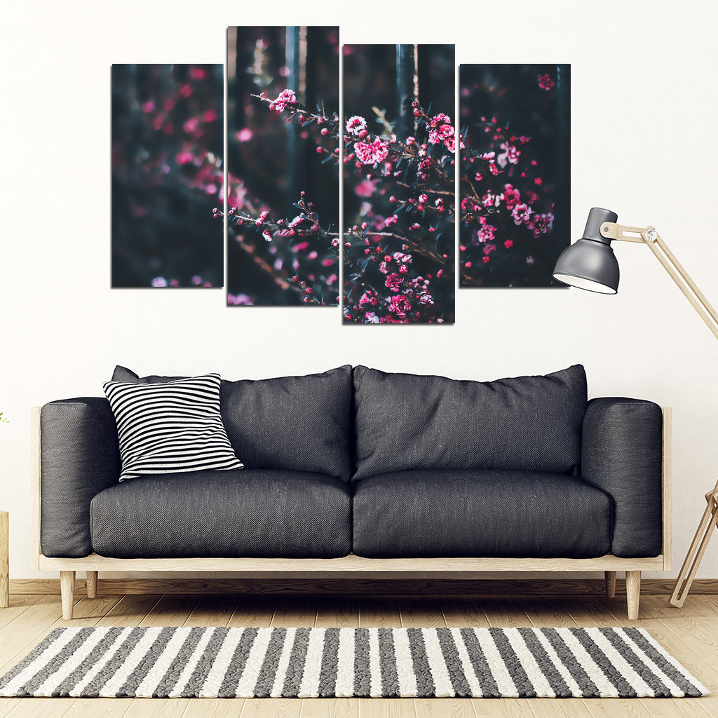 Flowers and Forestry4 Piece Framed Canvas