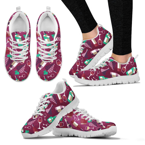 Wine Women's Sneakers - Now 50% OFF