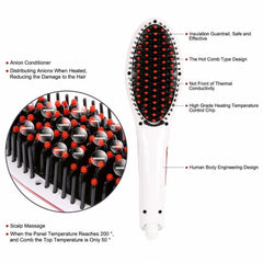 2-IN-1 HAIR STRAIGHTENING BRUSH - 66% OFF