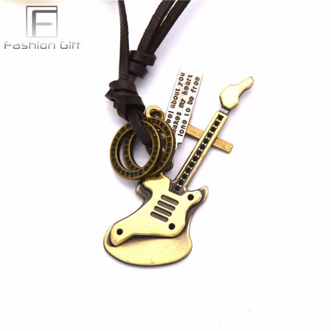 Fashion Vintage Guitar Pendant