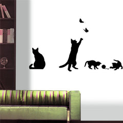 BUY 4 Cute Cats Wall Stickers 40% OFF + FREE SHIPPING! Online-Wandaufkleber-My Favorite Online Store