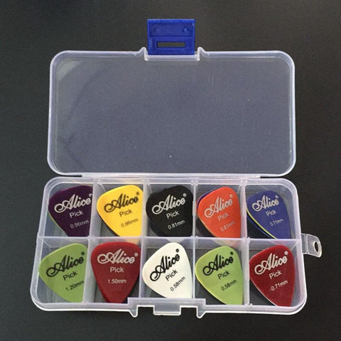 BUY 40 Guitar Picks + 1 Clear Plastic Storage Box+FREE SHIPPING Online