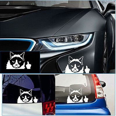 BUY Car 3D Grumpy Cat Sticker+FREE SHIPPING Online