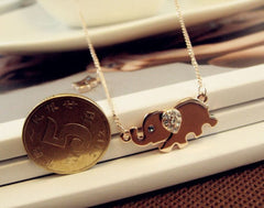 BUY FREE! Cute Elephant Necklace *JUST PAY SHIPPING AND HANDLING!* Online-Pendant Necklaces-My Favorite Online Store