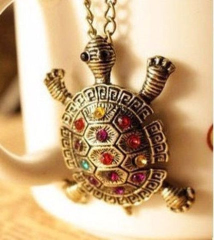 BUY FREE Cute Turtle Necklace with Diamonds ->> Just Pay Shipping! Online-Necklaces-My Favorite Online Store
